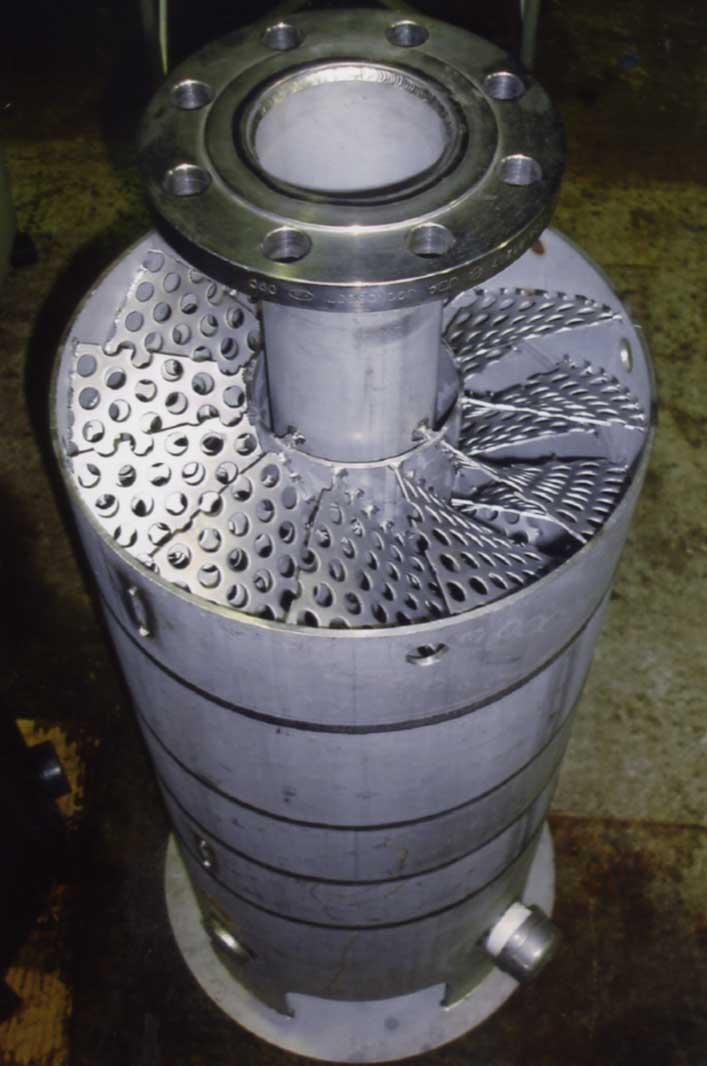 ミューグリーンリアクターの外観写真 曝気装置
